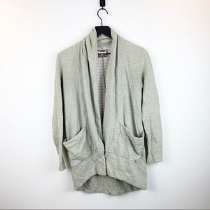 Anthropologie Pure + Good Draped Cocoon Cardigan
